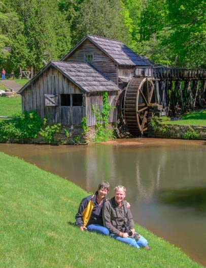 Mabry Mill selfie Blue Ridge Parkway Virginia