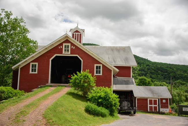 Red barn in Pennsylvania countryside