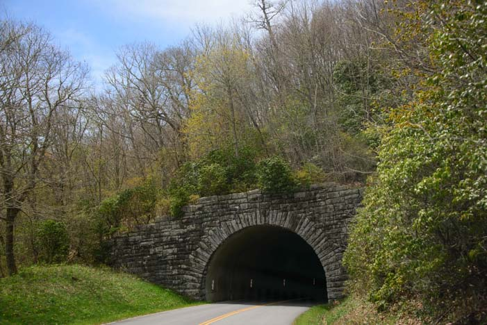 Tunnel on Blue Ridge Parkway North Carolina