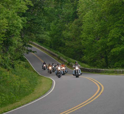 Motorcycles on Skyline Drive Shenandoah National Park Virginia