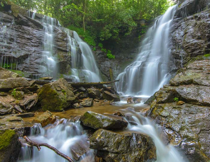 Soco Falls Blue Ridge Parkway North Carolina