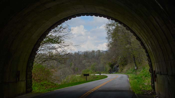 Tunnel View on Blue Ridge Parkway North Carolina