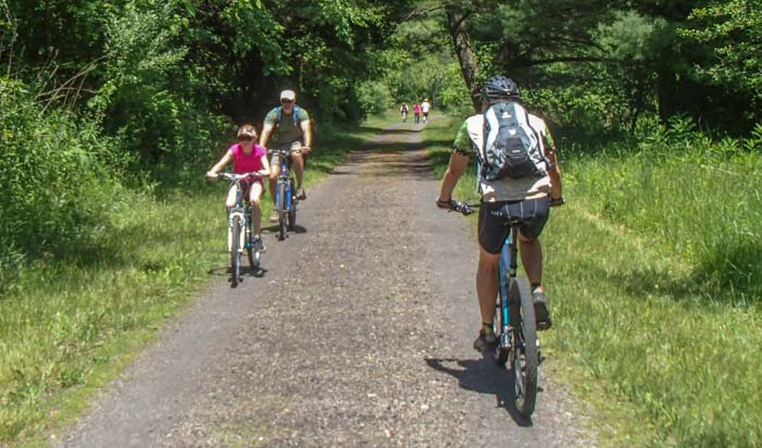Bicycles on New River Trail State Park Galax Virginia