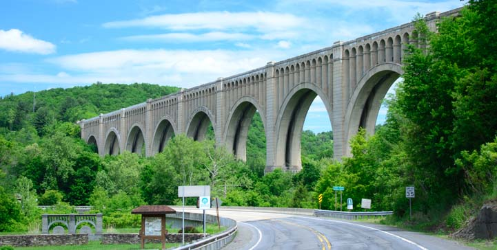 Tunkhannock Viaduct in Nicholson, Pennsylvania