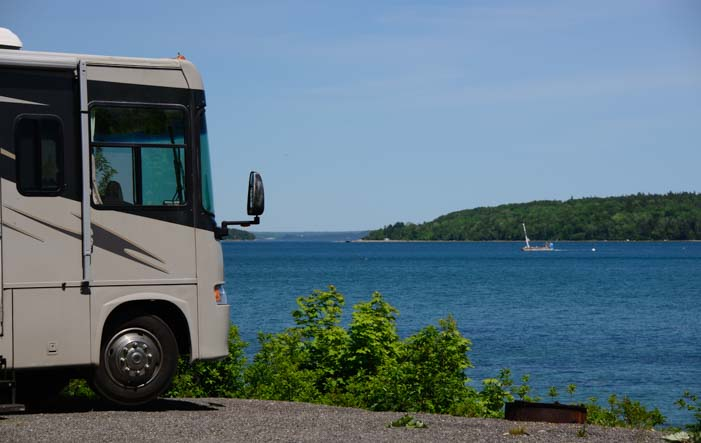 RV site Narrows Too RV Resort Mt Desert Island Maine Encore