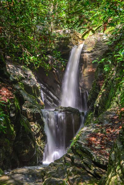 Duggers Creek Falls Blue Ridge Parkway North Carolina