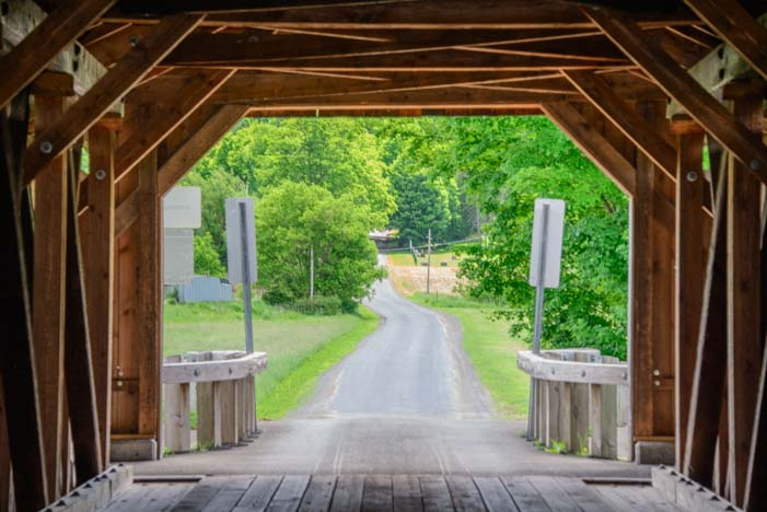 Hamden Covered Bridge Catskill Mountains New York