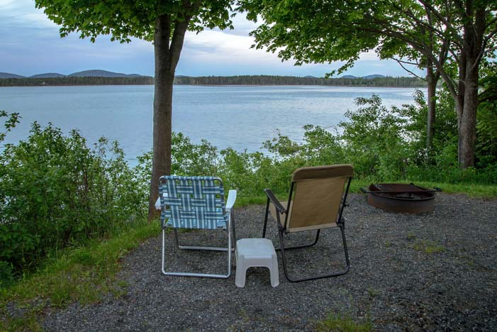 RV Campsite at Narrows Too RV Resort Bar Harbor Maine