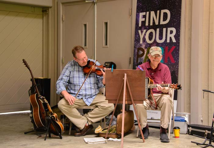 Live bluegrass music at Blue Ridge Music Center_