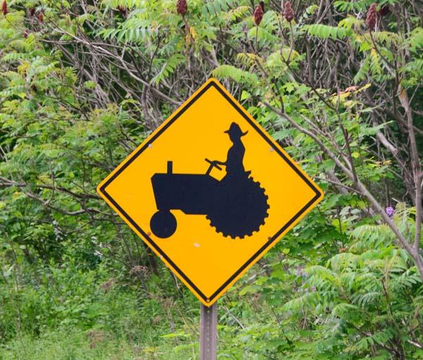 Tractor roadsign