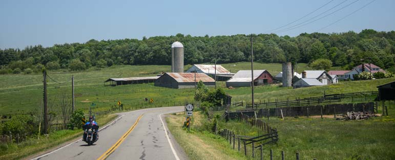 Farm in southwestern Virginia near Blue Ridge Parkway