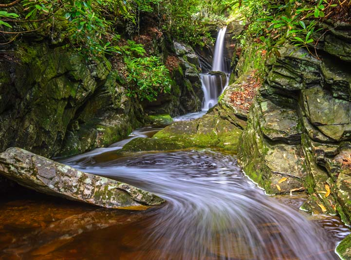 Duggers Creek Waterfall Blue Ridge Parkway North Carolina