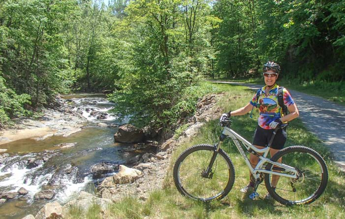 Mountain bike on New River Trail Galax Virginia