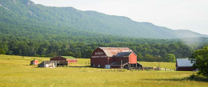 Virginia farm near the Blue Ridge Parkway