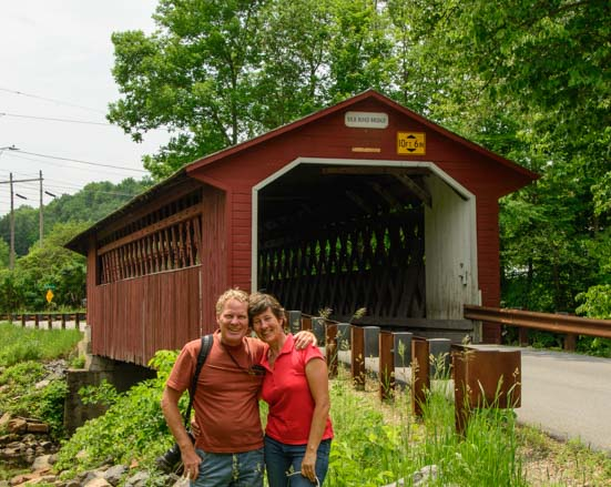 Covered bridge in Bennington Vermont