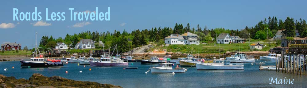 Maine Lobster Boats in Prospect Harbor downeast