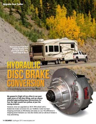 Hydraulic Disc Brake Conversion Escapees Magazine Jul-Aug 2015