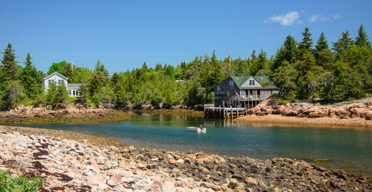 Wonsqueak Harbor Maine near Acadia National Park and Schoodic Point