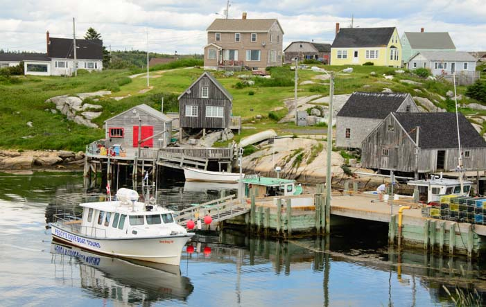 Boats and homes Peggy's Cove Nova Scotia