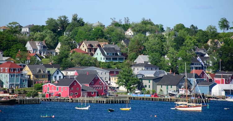 Lunenburg Harbor Nova Scotia Canada