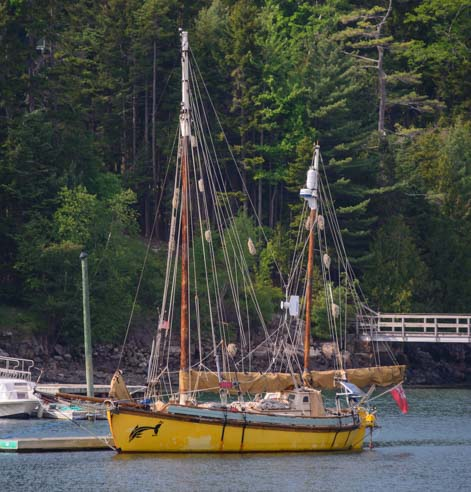 Antique ketch Northeast Harbor Maine