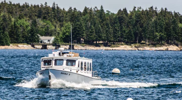 Mail boat ferry to Cranberry Island and Islesford Maine
