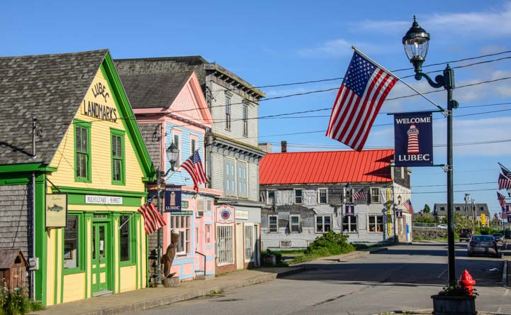 Storefronts in Lubec Maine