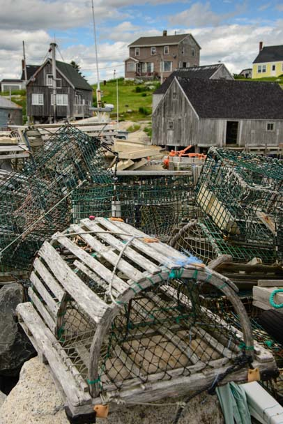 Lobster pots Peggy's Cove Nova Scotia