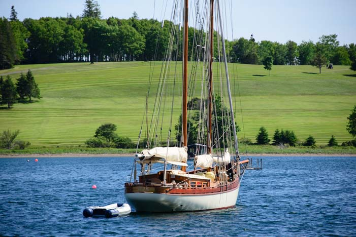 Schooner at anchor Lunenburg Nova Scotia Canada