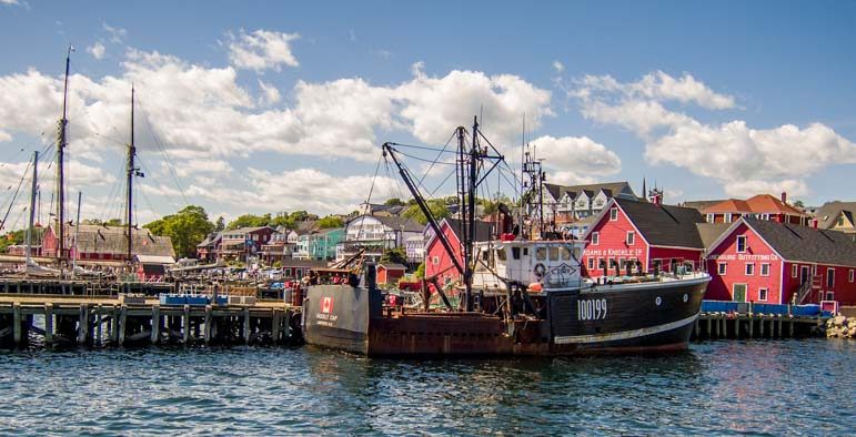 Ships in Lunenburg Nova Scotia Canada