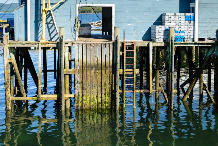Wharf in Islesford Maine