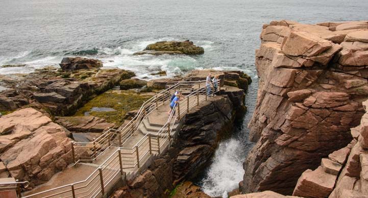 Thunder Hole - cool sounds on an outgoing tide and huge splashes on an incoming tide