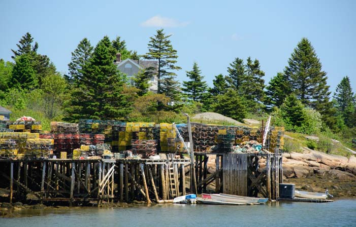 Lobster pots Prospect Harbor Maine