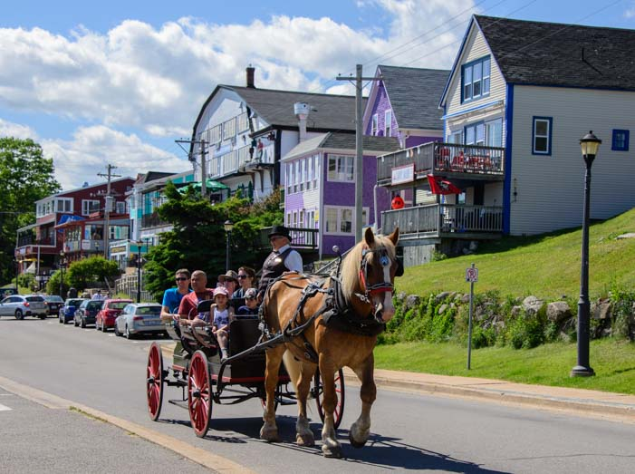 Horse and buggy ride Lunenburg Nova Scotia Canada