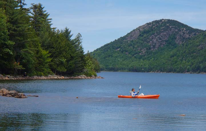 Kayak on Jordan Pond Acadia National Park Maine