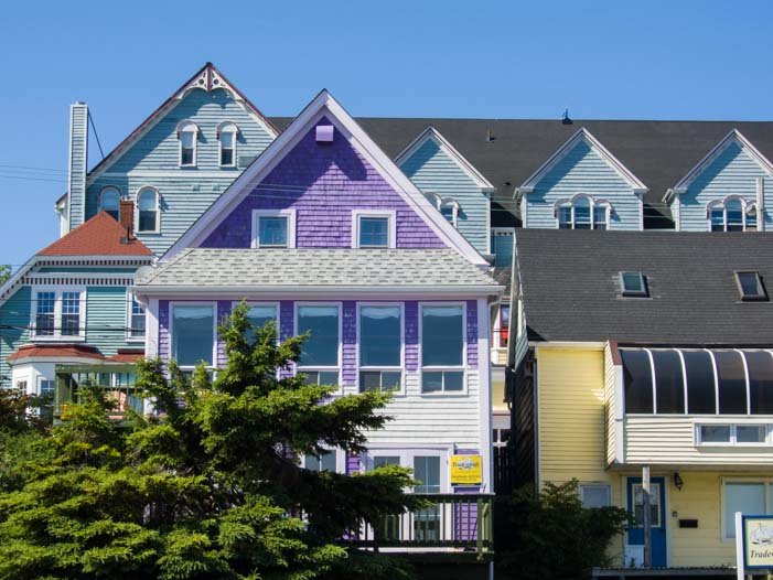 Colorful houses Lunenburg Nova Scotia