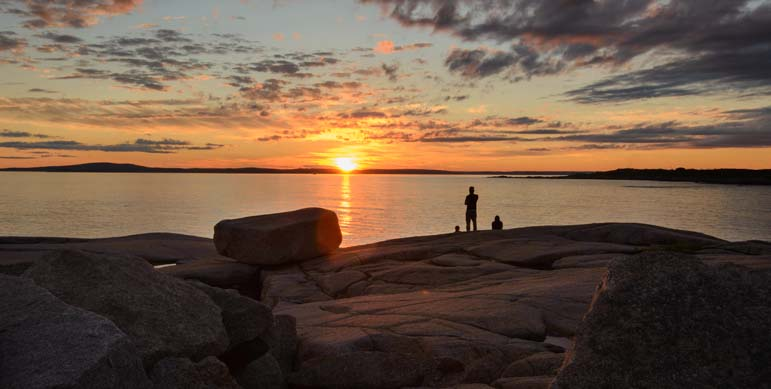 Sunset in Peggy's Cove Nova Scotia Canada