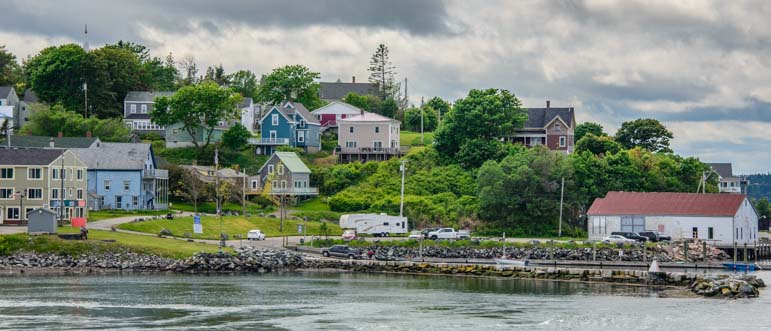 Town docks Lubec Maine