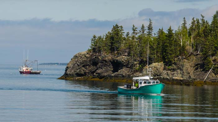 Lobster boats Campobello Island New Brunswick Canada