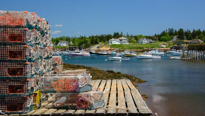 13 701 Lobster pots Prospect Harbor Maine