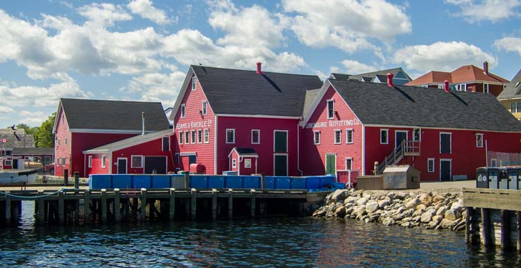 Dock buildings Lunenburg Nova Scotia Canada