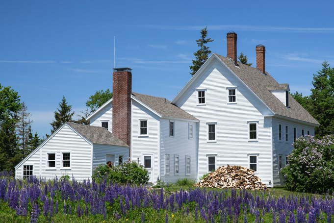 House on Cranberry Island Maine