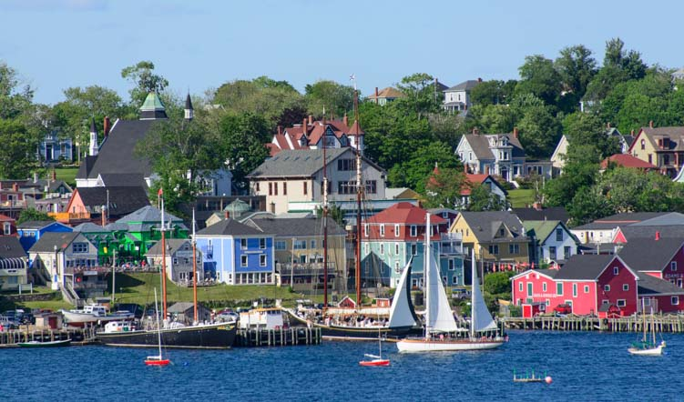Harbor in Lunenburg Nova Scotia Canada
