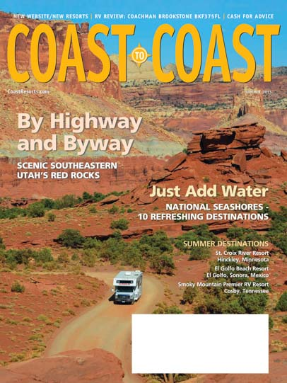 Cover Photo Coast to Coast RV Magazine Summer 2015 Emily Fagan