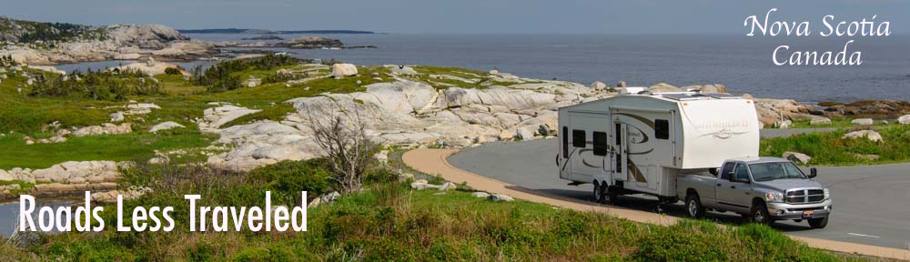 RV at Peggy's Cove Nova Scotia Canada