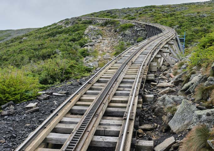 Jacob's Ladder trestle Mt Washington Cog Railway