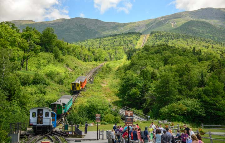 Biodiesel trains at the Cog Railway on Mt Washington in the White Mountains of New Hampshire