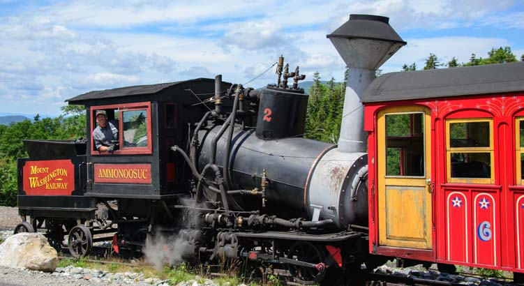 Ammonoosuc Train The Cog Railway Mt Washington New Hampshire