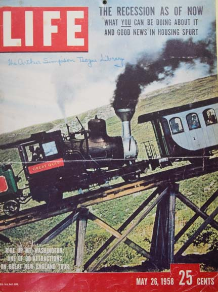 Life Magazine cover Mt Washington Cog Railway New Hampshire