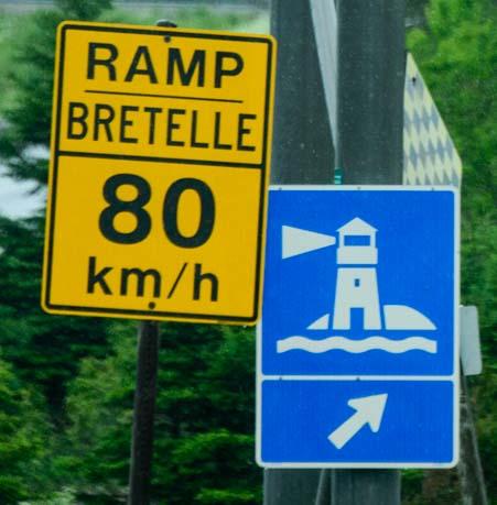 Highway entrance ramp roadsign